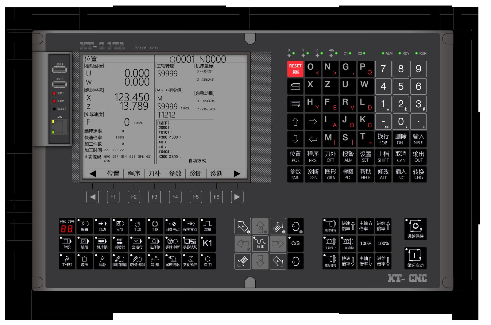 数控机床操作面板